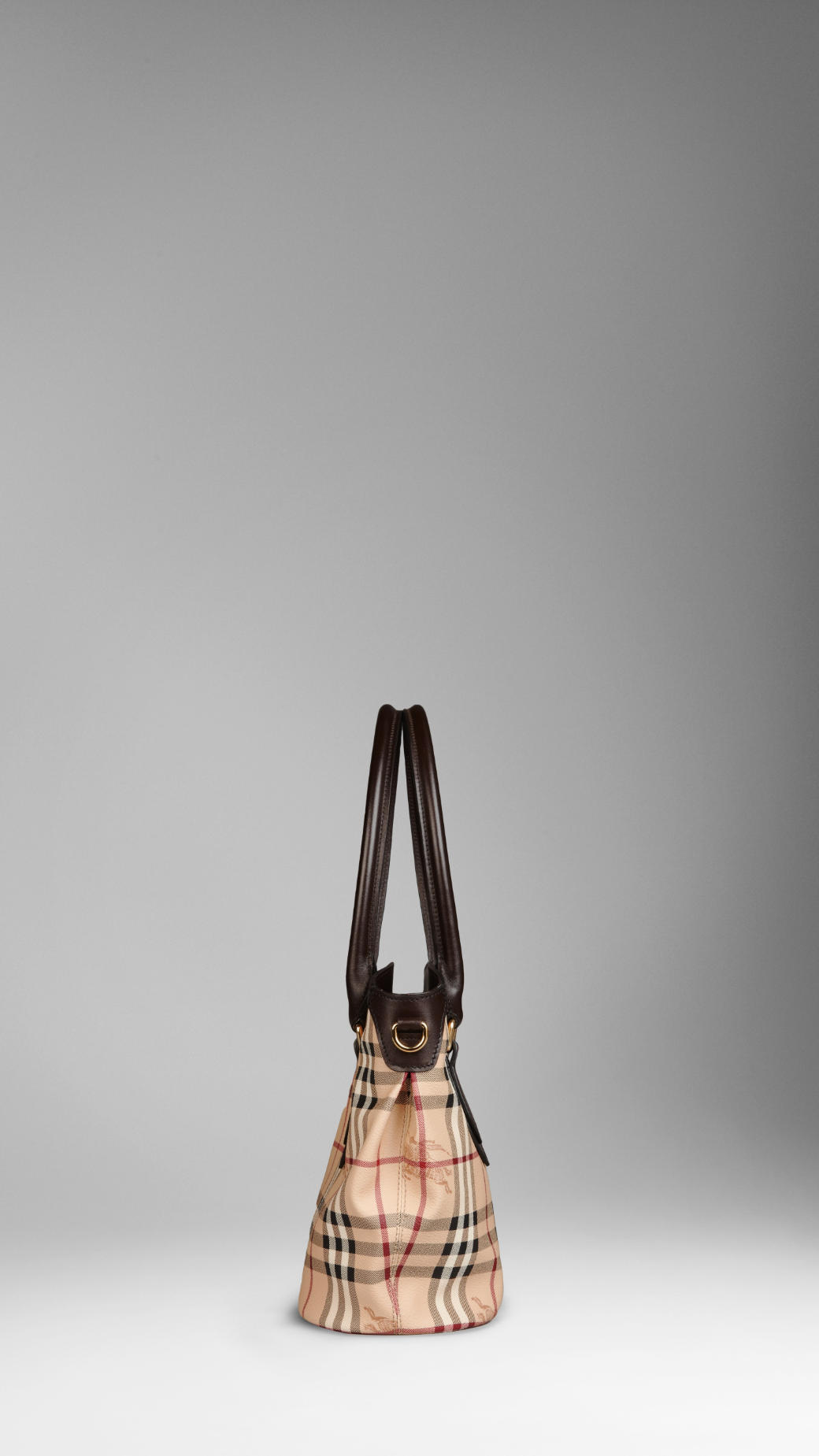 caf2d4d7f9f9 Burberry Small Haymarket Check Tote Bag in Natural - Lyst