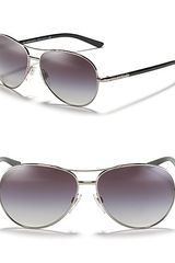 Burberry Aviator Sunglasses - Lyst