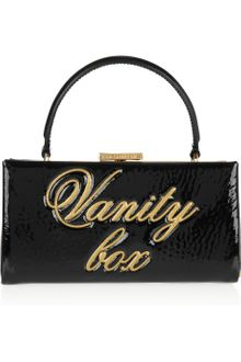 Moschino Cheap & Chic Vanity Box Patent Leather Clutch - Lyst