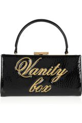 Moschino Cheap & Chic Vanity Box Patent Leather Clutch