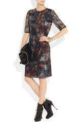 Mulberry Leather Trimmed Tie Dye Lace Dress in Multicolor (multicolored) - Lyst