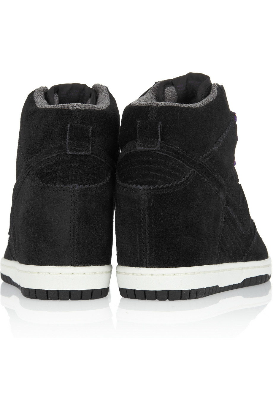 Nike Dunk Sky Hi Suede Wedge Sneakers in Black - Lyst
