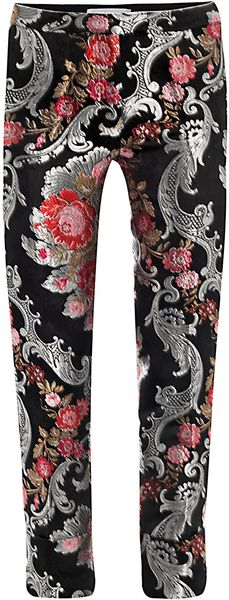 Osman Yousefzada Floral Brocade Trousers in Floral