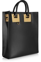 Sophie Hulme Leather Tote in Black - Lyst
