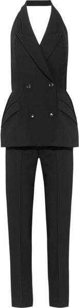 Stella Mccartney Jodie Wool Twill Tuxedo Jumpsuit in Black - Lyst