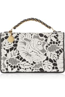 Stella McCartney Grace Lace and Satin Cutch - Lyst