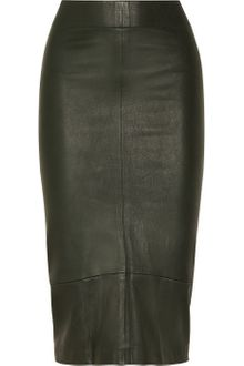 Zero + Maria Cornejo Leather Pencil Skirt - Lyst