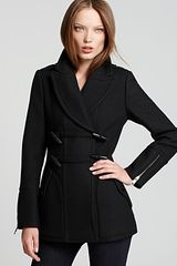 Burberry Brit Twill Toggle Pea Coat - Lyst