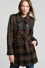Burberry Brit Carcottley Double Breasted Tweed Trench Coat - Lyst