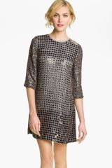 French Connection Embellished Shift Dress in Blue - Lyst