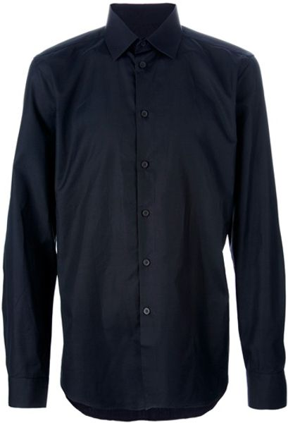 Givenchy Classic Shirt in Black for Men - Lyst