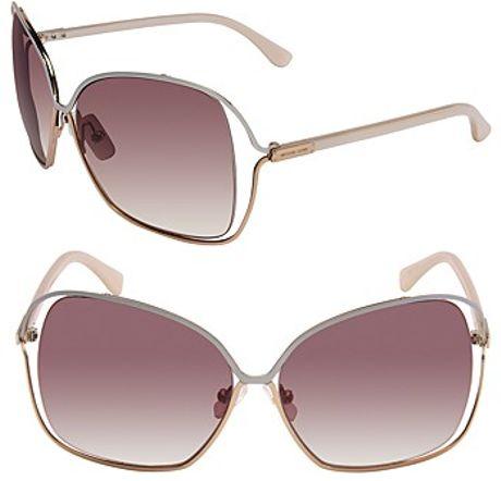 michael kors michael paros vented lens sunglasses in purple rose gold lyst. Black Bedroom Furniture Sets. Home Design Ideas