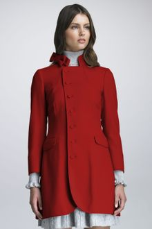 RED Valentino Bow Collar Coat - Lyst