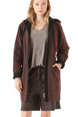 See By Chloé Hooded Drawstring Coat - Lyst