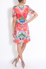 Temperley London Lotus Print Dress in Pink - Lyst