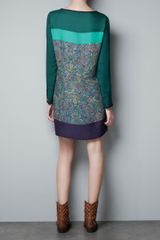 Zara Cashmere Tunic Dress in Green (emerald green) - Lyst
