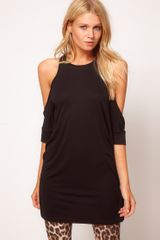 ASOS Collection Asos Top with Extreme Cold Shoulder and Wrap Back - Lyst