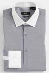 Boss Black Slim Fit Dress Shirt - Lyst