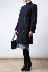 Chloé Tailored Woolangora Coat in Blue - Lyst