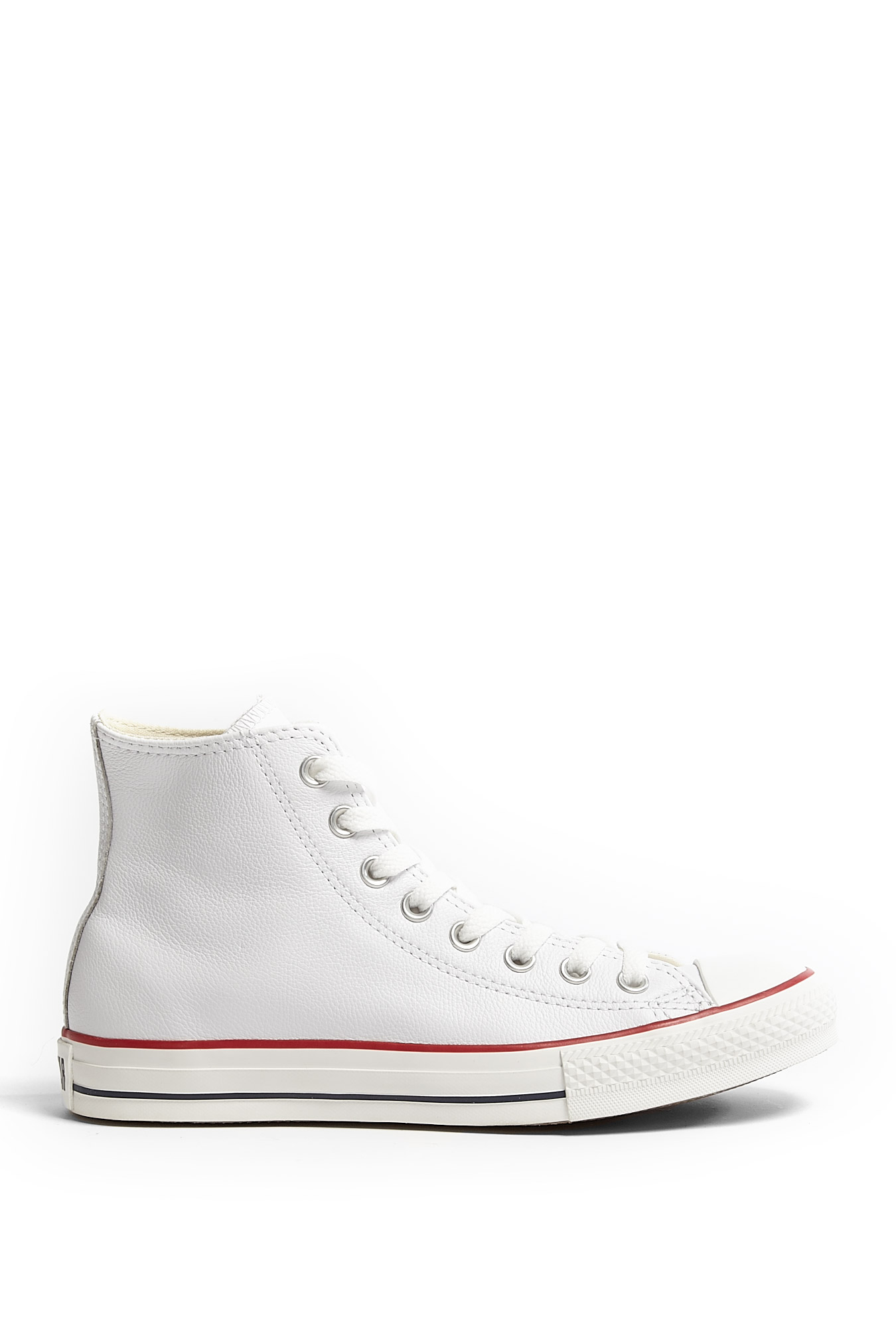 Converse White Leather Chuck Taylor All Star High Tops in ...