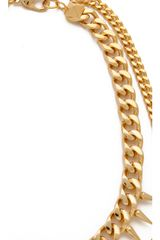 Fallon Jewelry Classique Crystal Necklace in White (gold) - Lyst