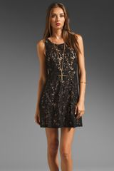 Free People Miles Of Lace Tank Dress - Lyst