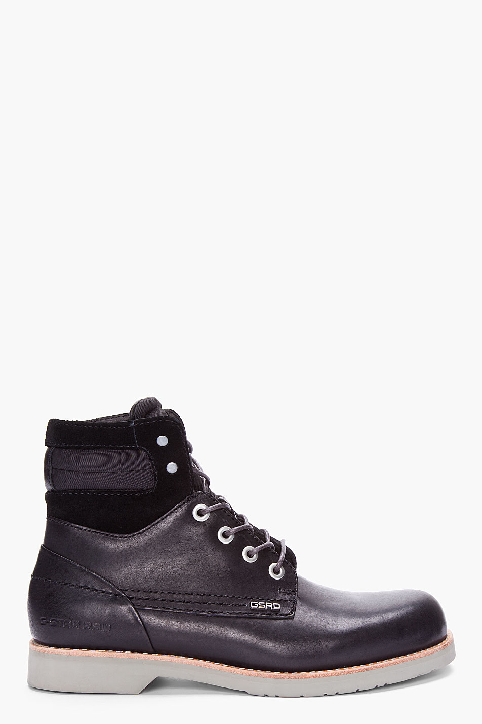 g star raw black district summit boots in black for men lyst. Black Bedroom Furniture Sets. Home Design Ideas