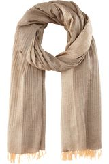Haider Ackermann Oversized Fringed Scarf in Beige - Lyst