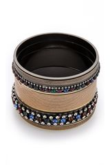 Iosselliani Set Of 5 Rhinestone Bangles - Lyst