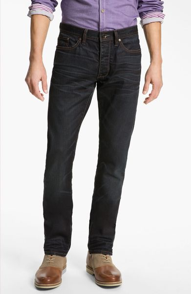 John Varvatos Bowery Slim Straight Leg Jeans Ink in Blue for Men (color list having 1 item inkink)