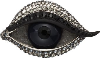 Lanvin Crystal Left Eye Brooch - Lyst