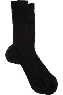 Maria La Rosa Narrow Ribbed Midcalf Sock - Lyst