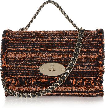 Mulberry Lily Bouclé Tweed Shoulder Bag - Lyst