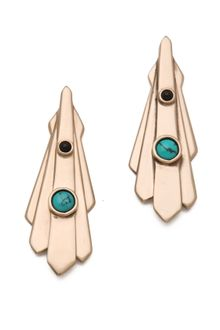 Pamela Love Keyhole Earrings - Lyst