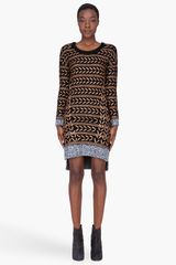 Rag & Bone Bronze Wool Lisbeth Dress - Lyst
