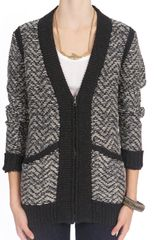 Rag & Bone Samantha Cardigan in Gray (grey) - Lyst