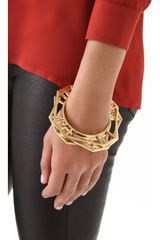 Tory Burch Audrina Stacking Bangles in Gold - Lyst