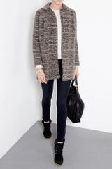 A.p.c. Aran Knit Jumper in White (denim) - Lyst