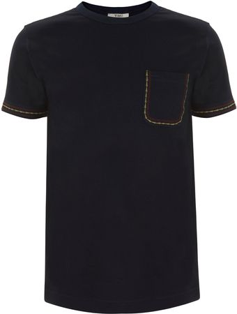 YMC Embroidered Pocket T-Shirt - Lyst