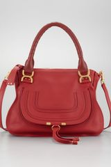 Chloé Marcie Medium Shoulder Bag  in Red (hollyberry) - Lyst