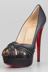 Christian Louboutin Arborina Twistfront Platform Red Sole Pump - Lyst