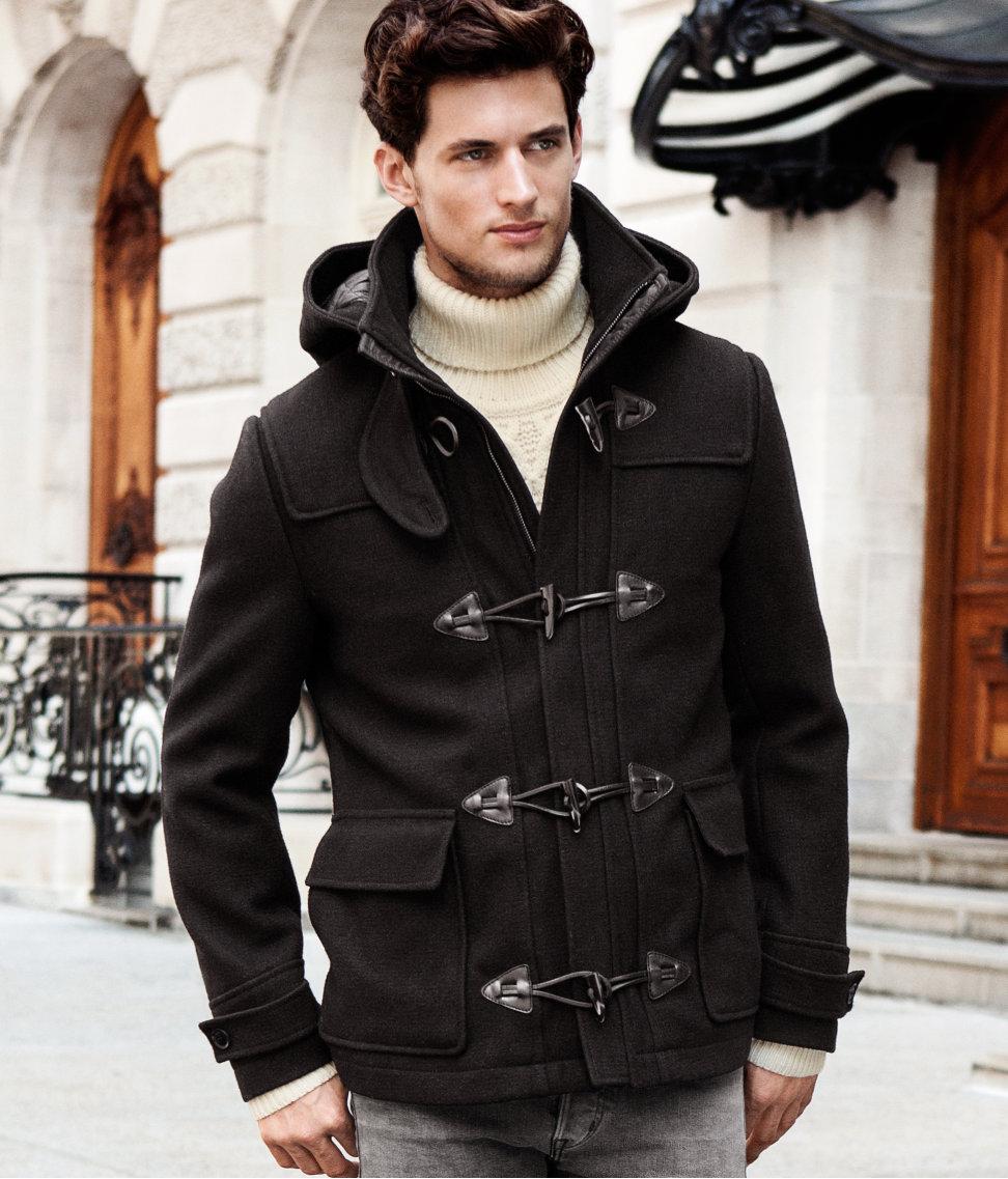 H&m Coat in Black for Men | Lyst