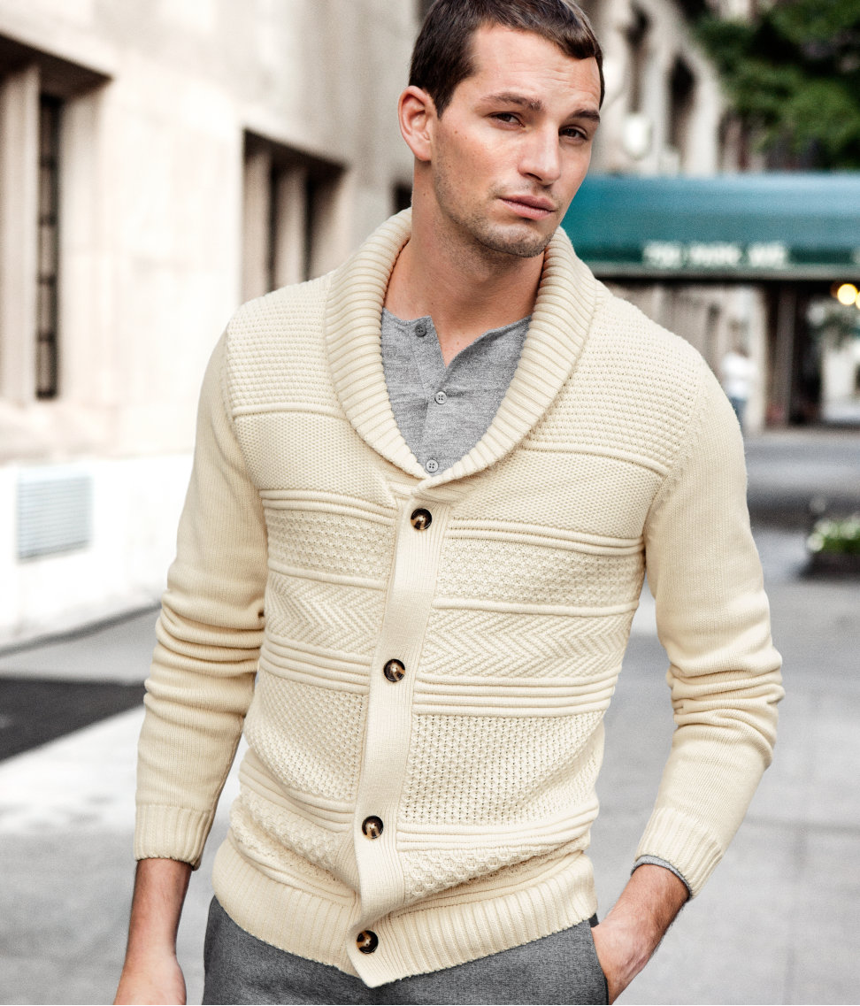 H&m Cardigan in Natural for Men | Lyst