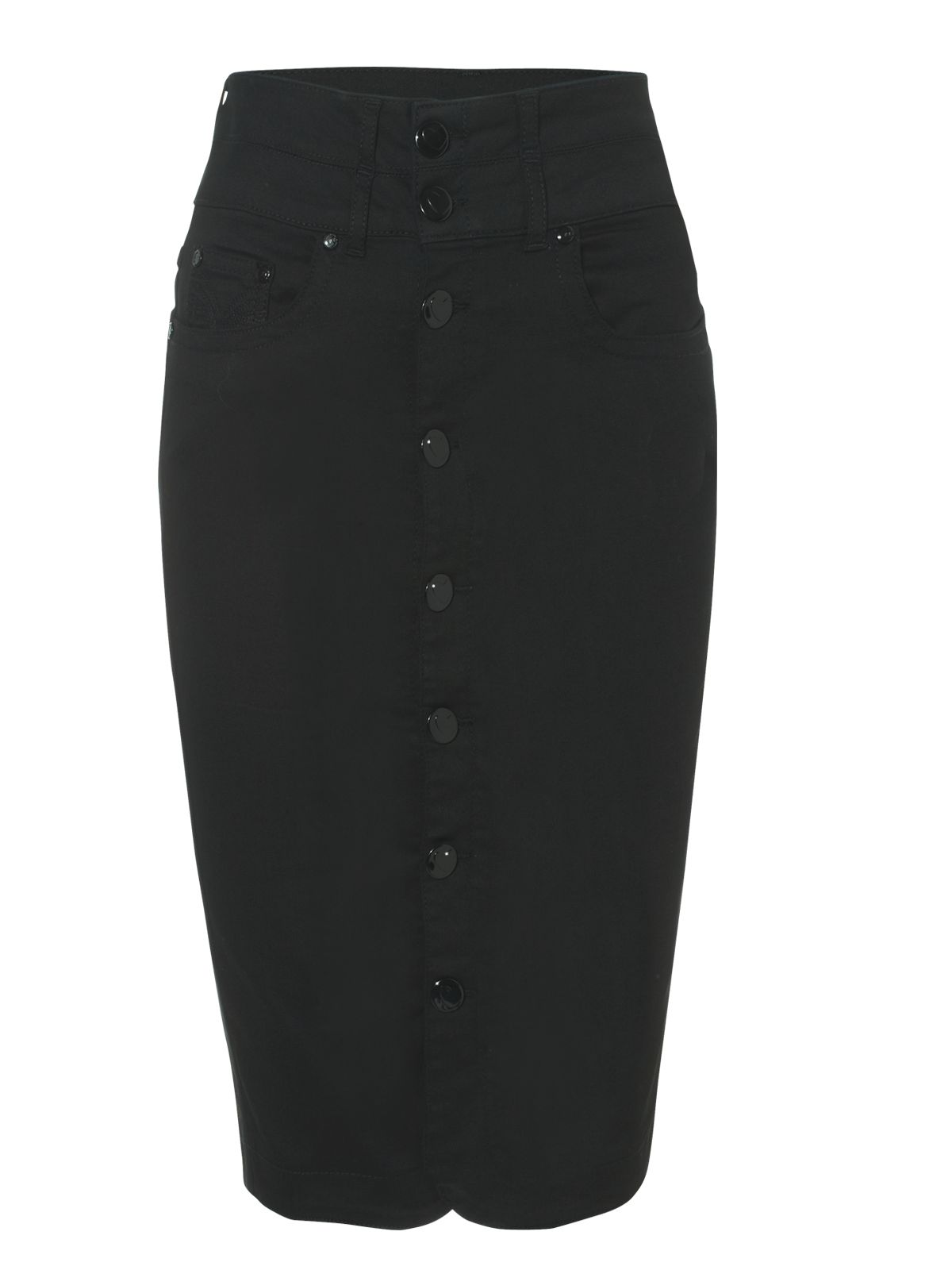 high waisted denim pencil skirt jane norman black high waisted denim pencil skirt in black 3851