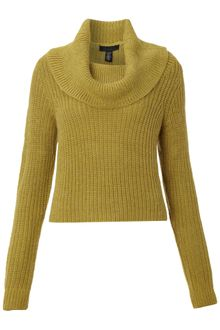 Kenneth Cole Turtleneck Crop Long Sleeve Pullover - Lyst