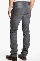 Robert Graham Jeans Grey Day Slim Straight Leg Jeans - Lyst