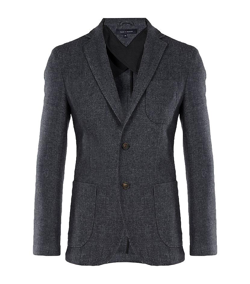 tommy hilfiger patch pocket blazer in gray for men white. Black Bedroom Furniture Sets. Home Design Ideas