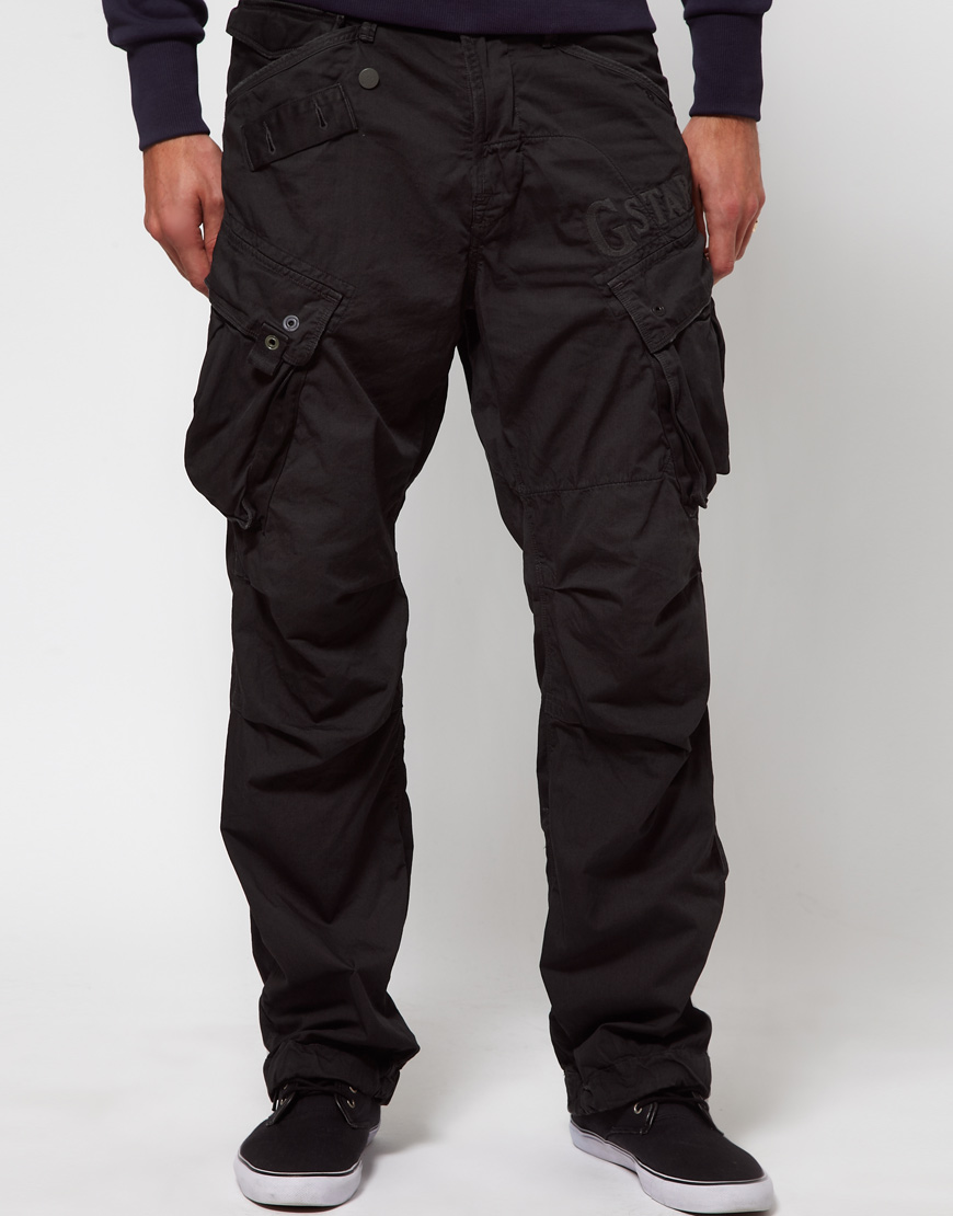 g star raw combat trousers loose fit in black for men lyst. Black Bedroom Furniture Sets. Home Design Ideas