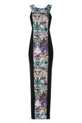 Jane Norman Flower Panel Maxi Dress - Lyst
