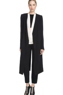 Narciso Rodriguez Black Nylon Crepe Sable Coat - Lyst